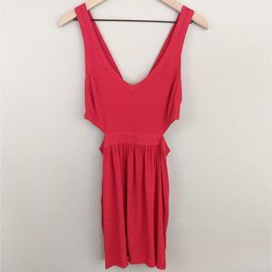 Coincidence & Chance | red cutout tank dress | S